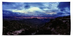Tucson Twilight Panorama Beach Towel