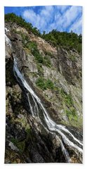 Beach Towel featuring the photograph Tuftefossen, Norway by Andreas Levi