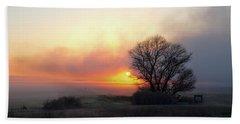 Tule Fog Sunrise  Beach Towel