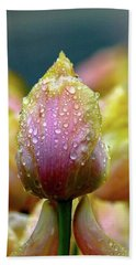 Tulips In The Rain Beach Towel