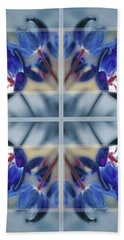 Tulips Of Stained Glass Beach Towel