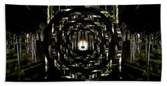 Tunnel Icicles Reflection Circles Beach Towel