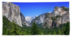 Beach Towel featuring the photograph Tunnel View Of Yosemite 2 by Dawn Richards