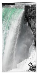 Turquoise Falls Beach Towel