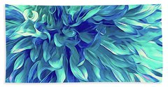 Turquoise Love  Beach Towel