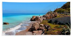 Turquoise Sea And Azure Sky Beach Towel