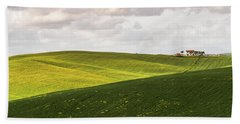 Tuscan Landscapes. Hills In The Spring Beach Sheet