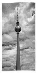 Tv Tower In Berlin Beach Towel