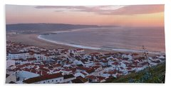Twilight At Nazare Village Beach Sheet