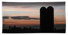 Twilight Silos Beach Towel