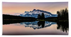 Twilight, Two Jack Lake Beach Towel