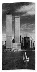 Twin Towers Remembered - Wtc Beach Towel