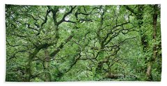 Twisted Forest Full Color Beach Towel
