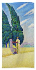 Two Cypresses - Digital Remastered Edition Beach Towel