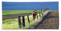 Two Horses In The Palouse Beach Towel