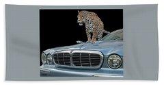 Two Jaguars 1 Beach Towel