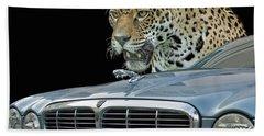 Two Jaguars 2 Beach Towel