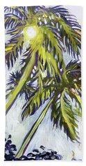 Two Palm Sketch Beach Towel