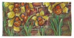 Two Toned Daffodils Beach Towel