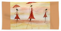 Umbrellas Beach Towel