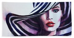 Beach Towel featuring the painting Unapologeticly Herself by Michal Madison