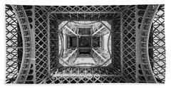 Under The Eiffel Tower Beach Towel