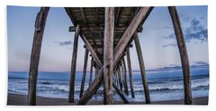 Beach Towel featuring the photograph Under The Pier by Steve Stanger