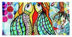 Beach Towel featuring the mixed media Under The Sun by Mimulux patricia No