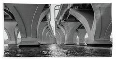 Under The Woodrow Wilson Bridge Beach Towel