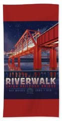 Union Railroad Bridge - Riverwalk Beach Towel