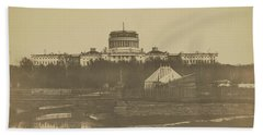 United States Capitol Under Construction Beach Towel