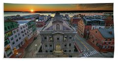 Beach Towel featuring the photograph United States Custom House by Rick Berk