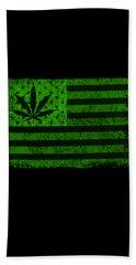United States Of Cannabis Beach Sheet