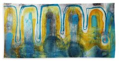 Beach Towel featuring the painting Untitled2 by 'REA' Gallery