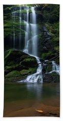 Upper Catawba Falls, North Carolina Beach Towel