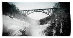 Upper Falls At Letchworth State Park Beach Towel