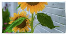 Urban Sunflower Beach Towel