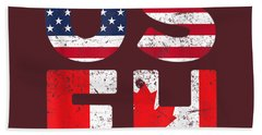 Usa Pride Us Flag Canada Day Useh Canadian T-shirt Beach Towel