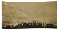 Utah Mountain In Sepia Beach Sheet