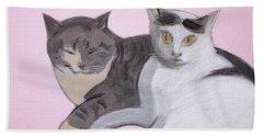 Valentine Cats Beach Sheet