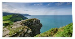 Valley Of The Rocks Views Beach Towel