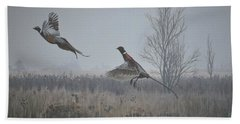 Valley Pheasants Beach Towel