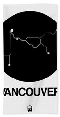 Vancouver Black Subway Map Beach Towel