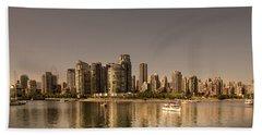 Vancouver Golden Light Hour Beach Towel