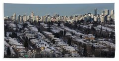 Beach Towel featuring the photograph Vancouver In Winter No. 1 by Juan Contreras