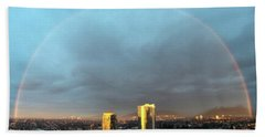 Beach Towel featuring the photograph Vancouver Rainbow by Juan Contreras