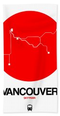 Vancouver Red Subway Map Beach Towel