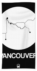 Vancouver White Subway Map Beach Towel