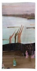 Variations In Pink And Grey, Chelsea - Digital Remastered Edition Beach Towel