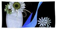 Vase And Swan Beach Towel